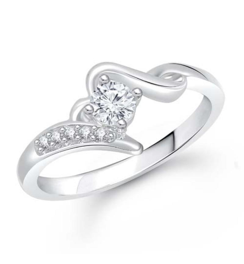Meenaz Solitaire American Diamond Cz Fr292 Rings For Girls & Women